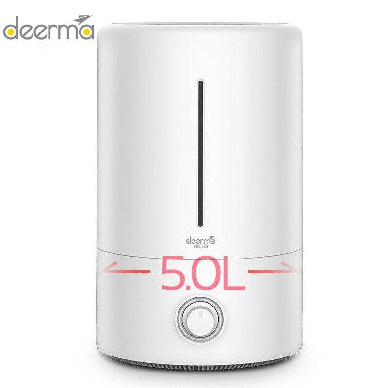 Оригинальные домашние Deerma 5l большой Ёмкость бытовой увлажнитель воздуха ультразвуковой увлажнитель воздуха для очистки, распространяет п...