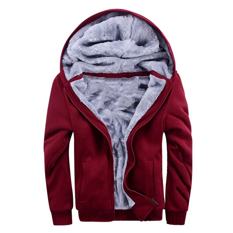 Men's Sweater Hooded Autumn And Winter Clothing Male Korean Sports Plus Velvet Thick Men's Jacket
