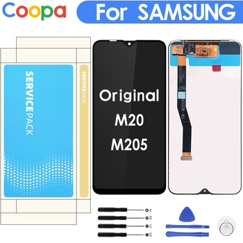 100% Original 6.3'' LCD For SAMSUNG Galaxy M20 2019 SM-M205 M205F LCD Display Touch Screen Digitizer Assembly replacement parts