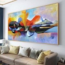 Peinture à l'huile avec seigneur abstrait avec bouddha, affiche religieuse, Art mural, livraison directe grande taille