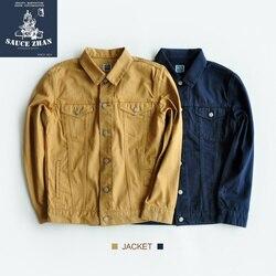 Мужская винтажная куртка sauzezhan, винтажная тканевая куртка цвета хаки с гравировкой
