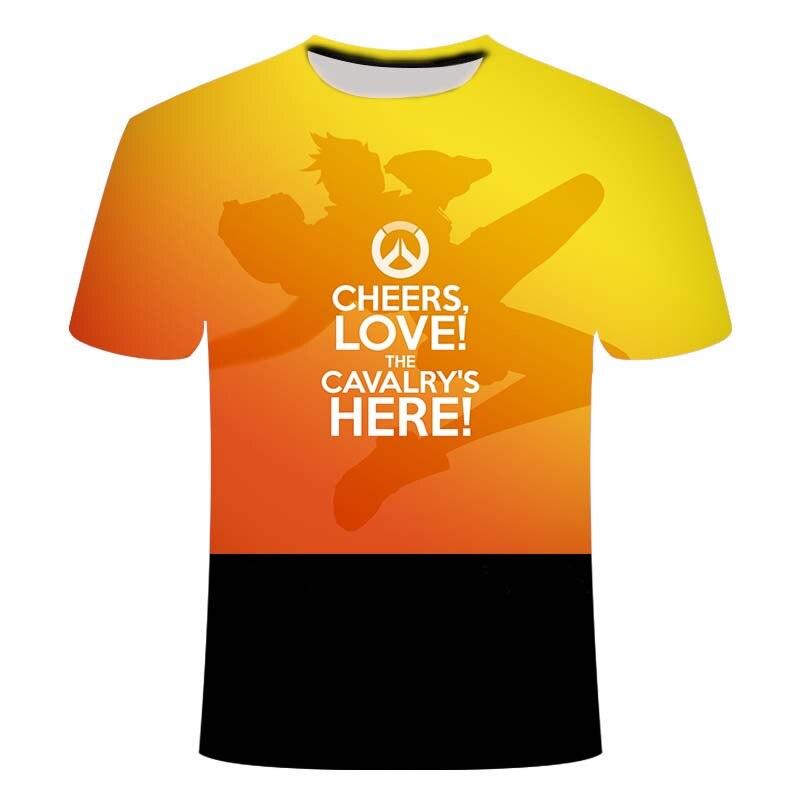 2021 e-sports game Overwatch 3DT shirt men's fashionable e-sports battlefield men's t-shirt game pattern 3D clothes110/6XL 2