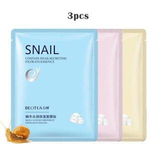 Image 2 - Plant Extracts Fruit 3pcs Skin Care Women Face Sheet Masks Natural Essence Moisturizing Essence Collagen Whitening Mask