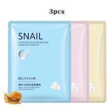 Snail Essence 3Pcs Skin Care Faceหน้ากากEssence Moisturizing Essence Collagen Whitening Mask