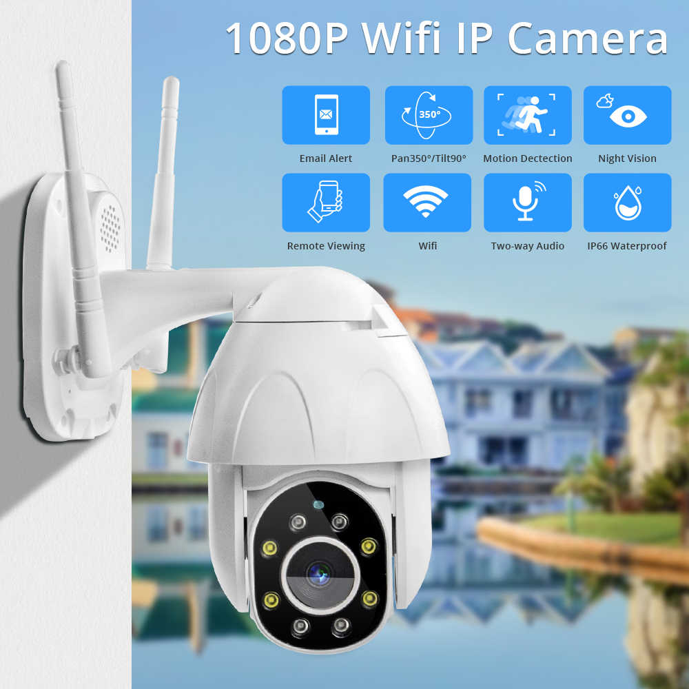 Zclever PTZ Dome Camera Draadloze Wifi IP Camera 1080P Speed Dome Auto Tracking Pan Tilt 4.0X Digitale Zoom met twee Weg Audio