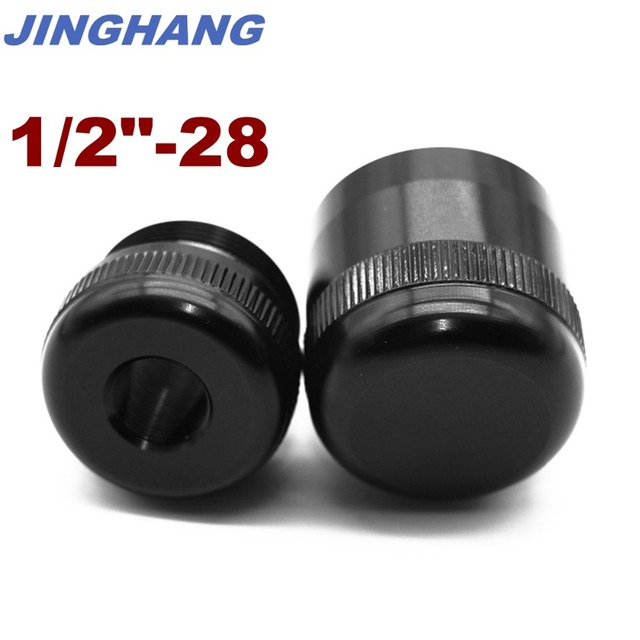 Maglite C Cell Cap Set 1/2-28 Aluminum End Caps Black, Free & Fast USPS Shipping From US STOCK 1