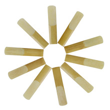 10 Reeds for Tenor Saxophone in B Flat Force 2.5  Bamboo Sax Woodwind Instrument Parts Accessories Reeds with a box Dropshipping new coffee gold 875ex tenor saxophone gold key b flat professional saxofone with mouthpiece patches pads reeds bend neck