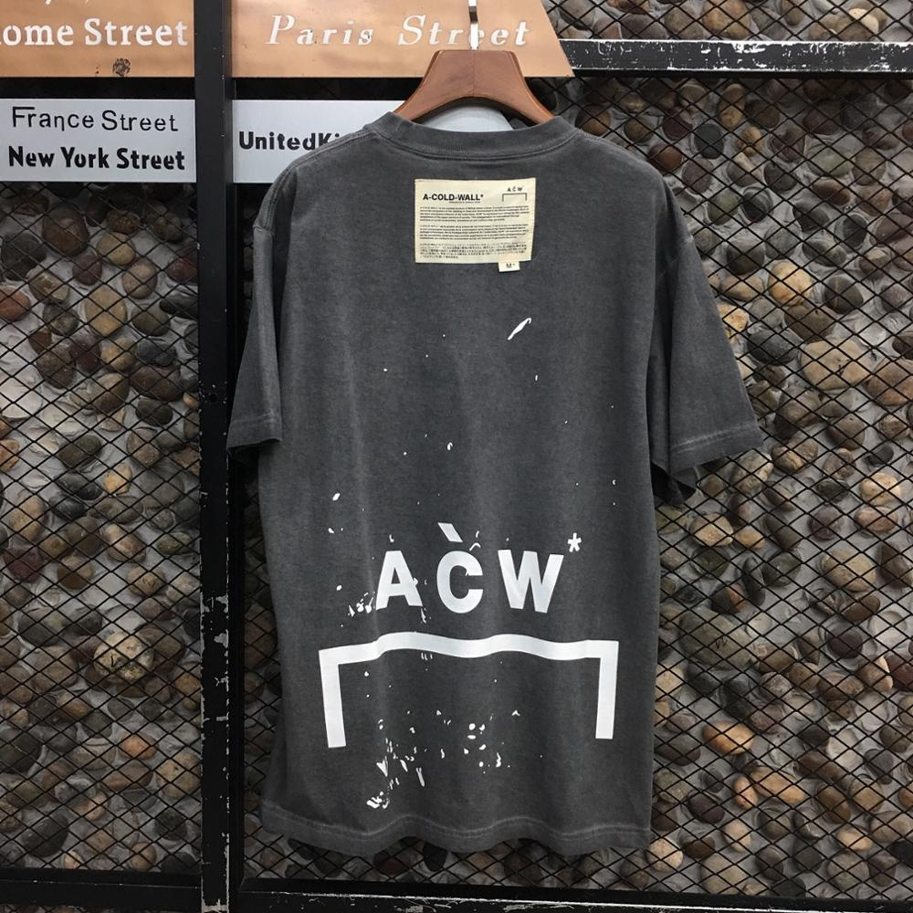 2020 New A COLD WALL T-shirt Men Women T-shirts Vintage Oversize ACW Tee Dover Street A-COLD-WALL* Tops