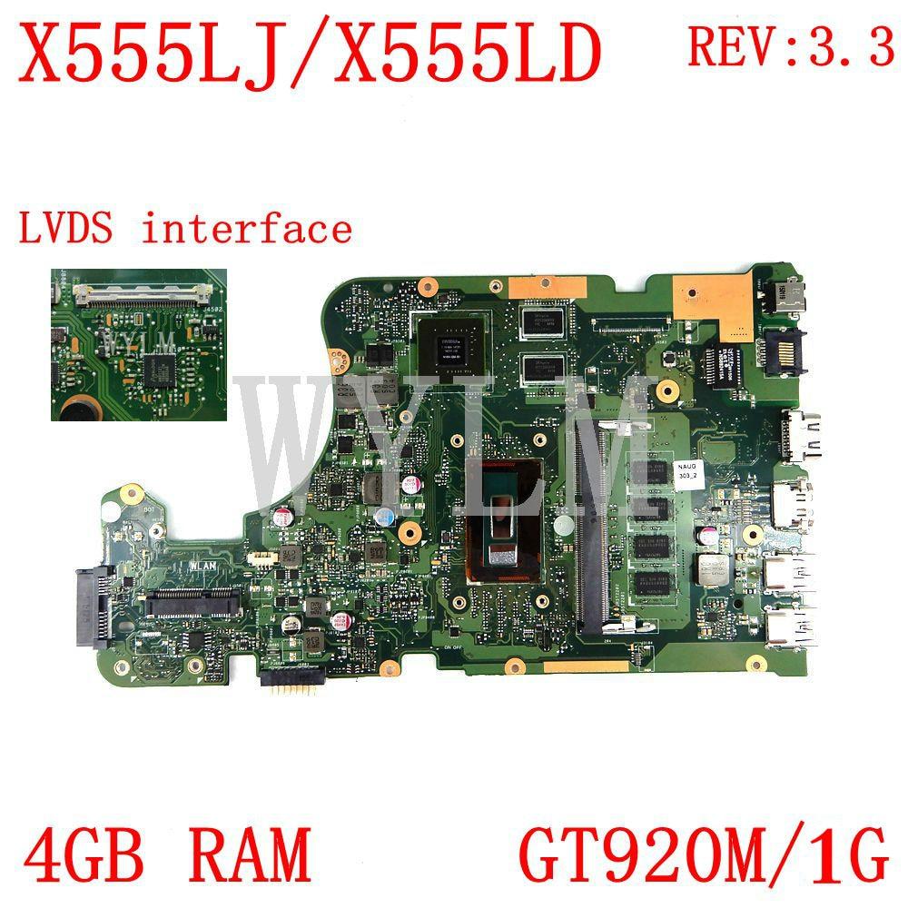 X555LJ LVDS 4 Гб RAM GT920M REV3.3 материнская плата для ASUS X555LJ LD LB LF LN X555L A555L K555L F555L W519L VM590L материнская плата для ноутбука