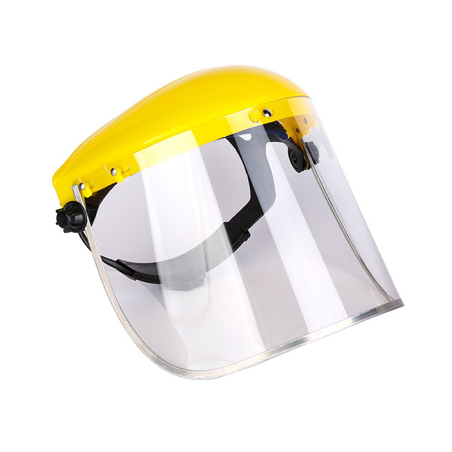 Anti-Saliva Dustproof MaskTransparent PVC Safety Faces Shields Screen Spare Visors Head Face Respiratory tract Protection