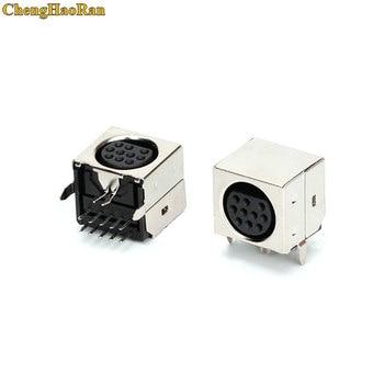 ChengHaoRan 10 -20pcs/lot MD Housing Female DIN 10 Mini Pin S-video Adapter Socket Mini DIN Port Connector