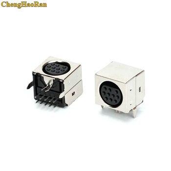 ChengHaoRan 1pcs MD Housing Female DIN 10 Mini Pin S-video Adapter Socket Mini DIN Port Connector
