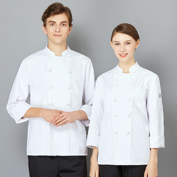 The Chef Uniform Long Sleeve Qiu Dong Outfit Hotel Catering Kitchen Chef Uniform Bakery Equipment After Men And Women  2