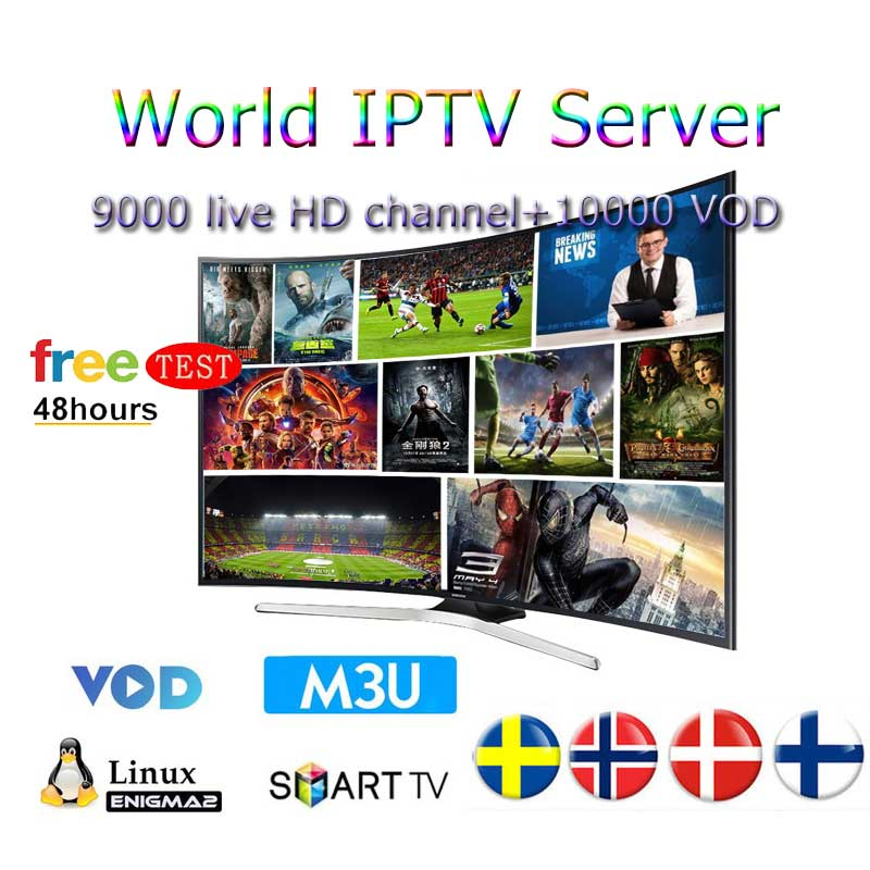 Best HD IPTV M3U subscription iptv ltaly 9000 live channel 10000 VOD support android smart tv for france poland portugal in Set top Boxes from Consumer Electronics