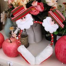 Рождественские милые меховые наушники теплые женские плюшевые зимние теплые толстые пушистые толстые плюшевые пушистые наушники