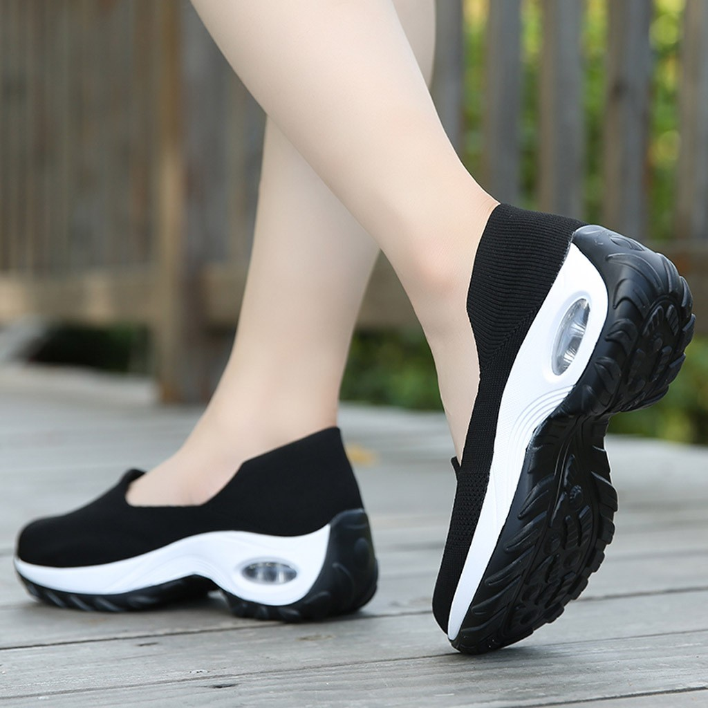 casual sapato de balanço de fundo grosso