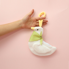 Cute Plush Duck Coin Purse Credit ID Card Holder Case Kids Zipper Pouch Girl Doll Toy Handbag Mini Fur Earphone Organizer Bag