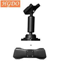 Hgdo suporte para carro dvr, suporte para rádio automotivo, retrovisor, dvr, gravador gps, suporte universal para celular, câmera de ré