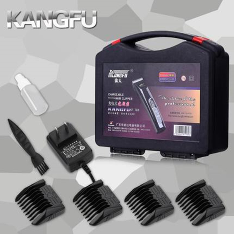 KF T69 Plug In double usage rasoir électrique tondeuses ensemble électrique tondeuses à cheveux ciseaux à cheveux outils de coiffure avec tondeuse - 4