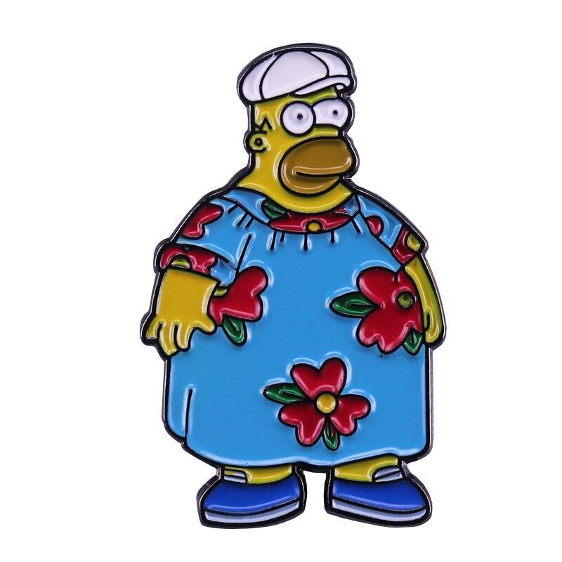 The Simpsons Ralph Wiggum Eats Paste Enamel Pins Simpsons TV Show Lapel Hat Pins
