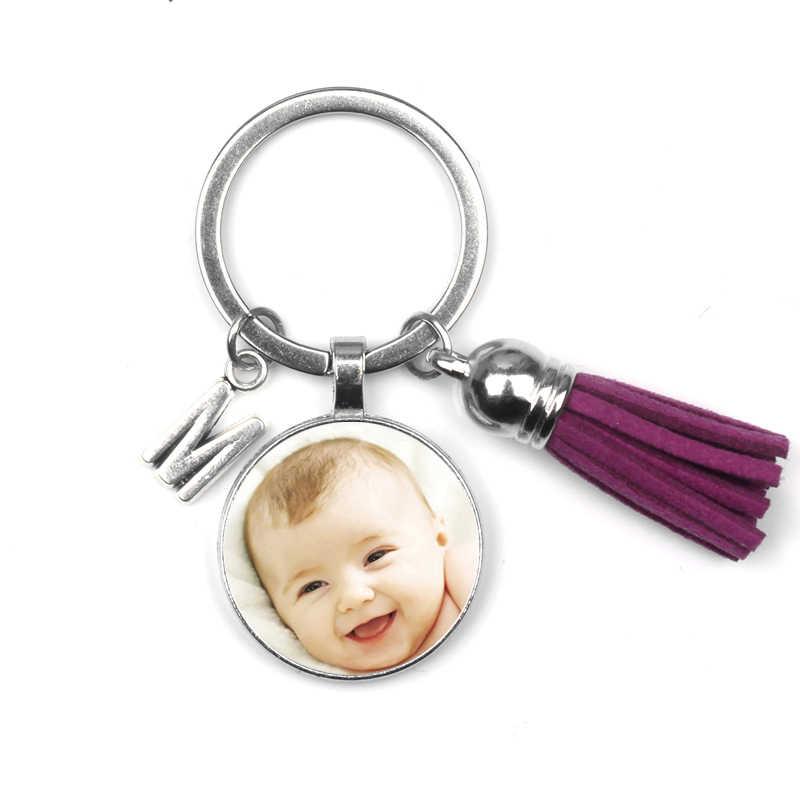 ส่วนบุคคล Photo Key Chain แหวน Custom Photo ทารกเด็กแม่พ่อปู่ย่าตายายคนที่คุณรักสำหรับครอบครัวสมาชิกของขวัญ