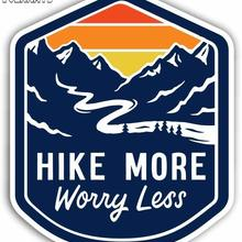 Volkrays Fashion Car Sticker Hike More Worry Less A