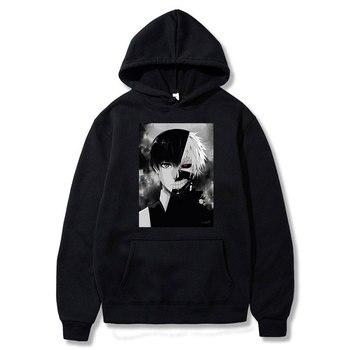 Tokyo Ghoul Harajuku Hoodie Sweatshirt Men/women Japanese Anime Kaneki Ken Cosplay Hoodies Outerwear