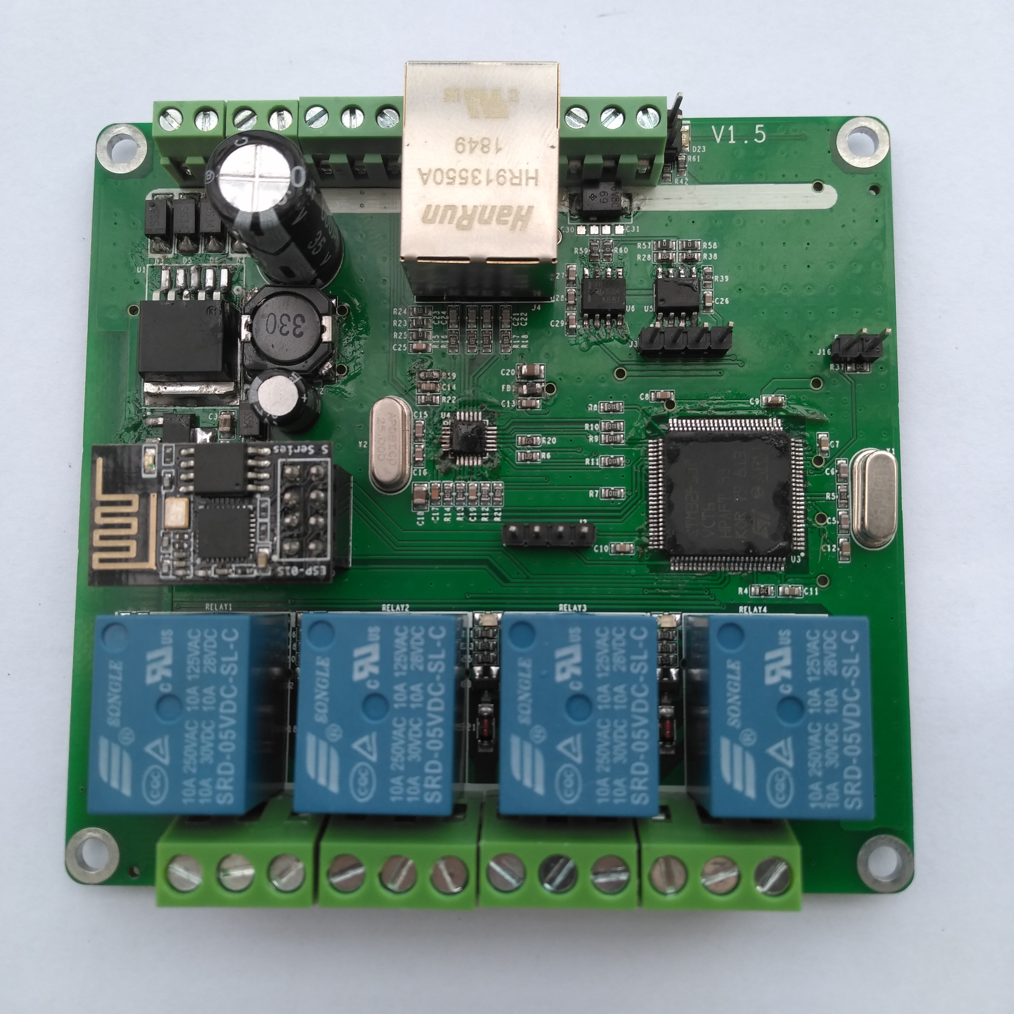 Dtwonder Ethernet/RS485/CAN/WIFI/Web Server/TCP/UDP 4 Channel Delay Switch Relay Board