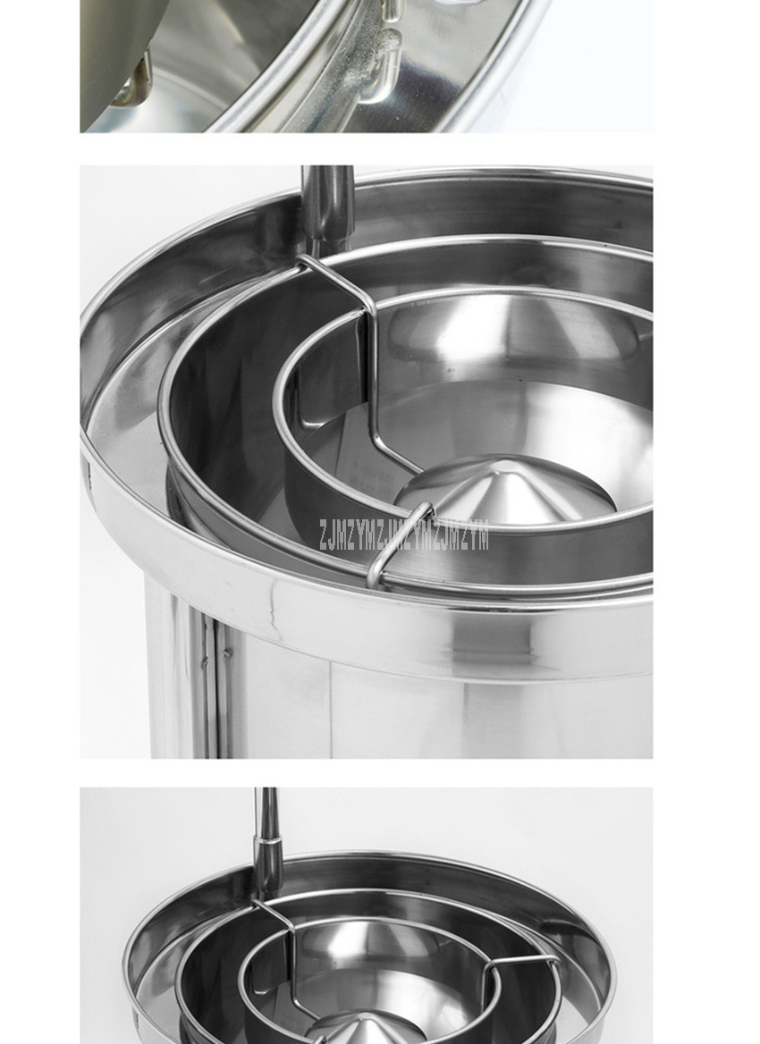 25kg Washing Capacity Automatic Stainless Steel Rice Washing Machine Commercial Large Water Pressure Rice Washer For Restaurant 7