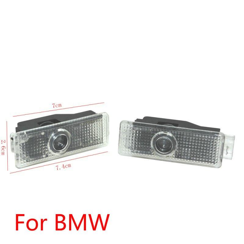 2X Logo de bienvenue pour BMW 5 7 | Porte de voiture, Logo de projecteur d'ombre légère pour BMW G30 G31 G38 G11 G12 E65 E66 F01 F02 F03 F04 F10 F20