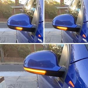 Image 2 - שחור דינמי נצנץ Turn אות LED עבור פולקסווגן גולף 5 GTI Variant Jetta MK5 פאסאט B5.5 B6 בתוספת GT שרן EOS מעולה מראה אור