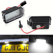 2PCS Error Free LED license plate light For Jaguar XF X250 XJ X351 auto rear number plate lamps car styling replacement White