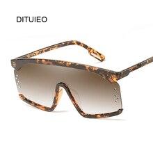 Vintage Shield Sunglasses Women 2019 Oversized Windproof Glasses One Peice Big F