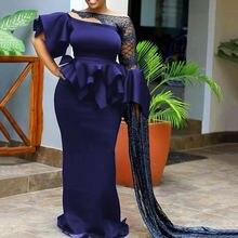 Элегантное женское облегающее макси платье многослойное falbala
