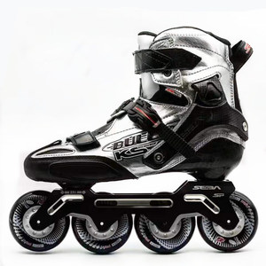 Image 5 - Japy paten SEBA KSJ Bullet profesyonel Slalom tek sıra tekerlekli paten karbon Fiber rulo kayak ayakkabıları sürgülü ücretsiz paten Patines