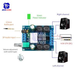 Image 3 - Diymore TPA3116 D2 50Wx2 ثنائي القناة تيار مستمر 4.5 27 فولت مكبر كهربائي رقمي مجلس 2 CH ستيريو عالية الكفاءة عكس الحماية