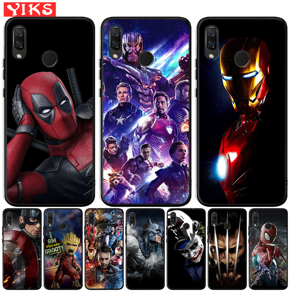 Marvel Avengers Deadpool Iron Man Case For Honor 20 9X Pro Soft TPU Cover For Honor 10 9 9i 8 Lite 8X 8S 7A 7X V20 View 20 Funda image