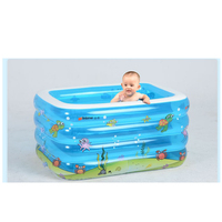 143 * 105 * 75cm plastic rectangular insulation baby swimming bath inflatable bathtub pool for children