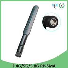 10pcs 2.4GHz 5GHz 5.8Ghz Antenna 5dBi RP-SMA Connector Dual Band wifi Antena aerial SMA female wireless router 2.4 ghz 5.8