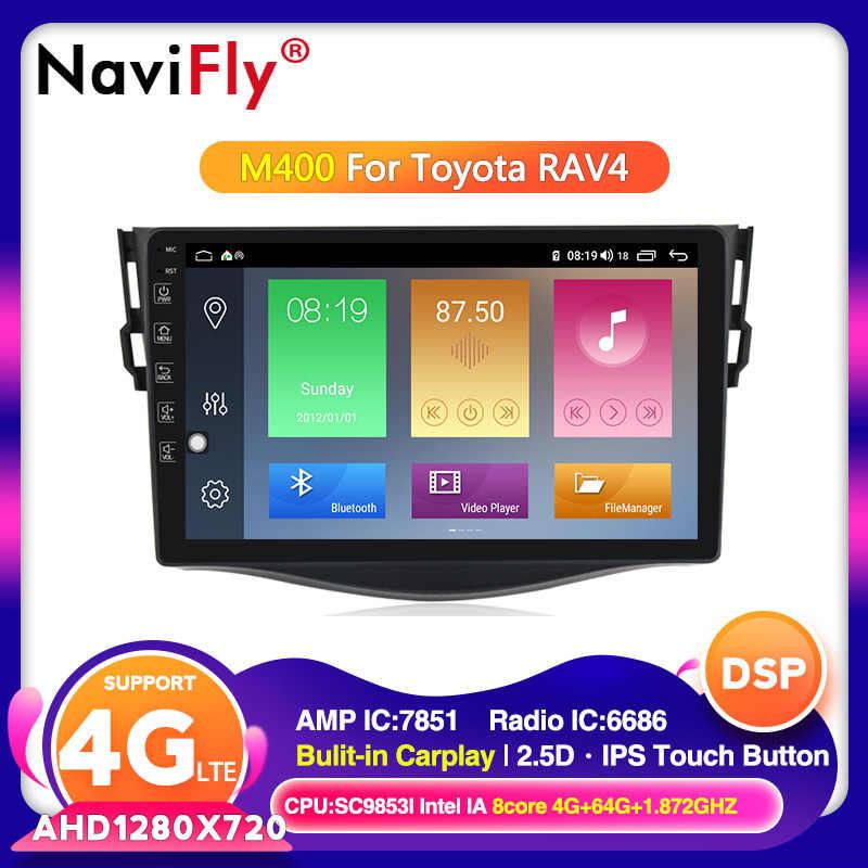 NaviFly トヨタ RAV4 3 XA30 2005-2013 車のマルチメディアプレーヤー gps ラジオナビゲーションアンドロイド 10.0 HD IPS 2.5D 4 4G LTE Carplay