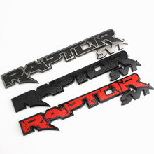1 pcs New Raptor SVT Tailgate Emblem 3D Badge 09-14 Trunk Car Sticker Decal For Ford F150 2010-2014 Fx4 accessories