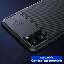 Cho Iphone 11 Pro Max Ốp Lưng Bảo Vệ Ống Kính Camera TPU + PC Cứng Ốp Lưng Silicon Dành Cho iPhone 11