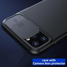 Dla iphone 11 pro max etui z osłoną obiektywu aparatu TPU + PC twardy silikonowy pokrowiec na apple iphone 11