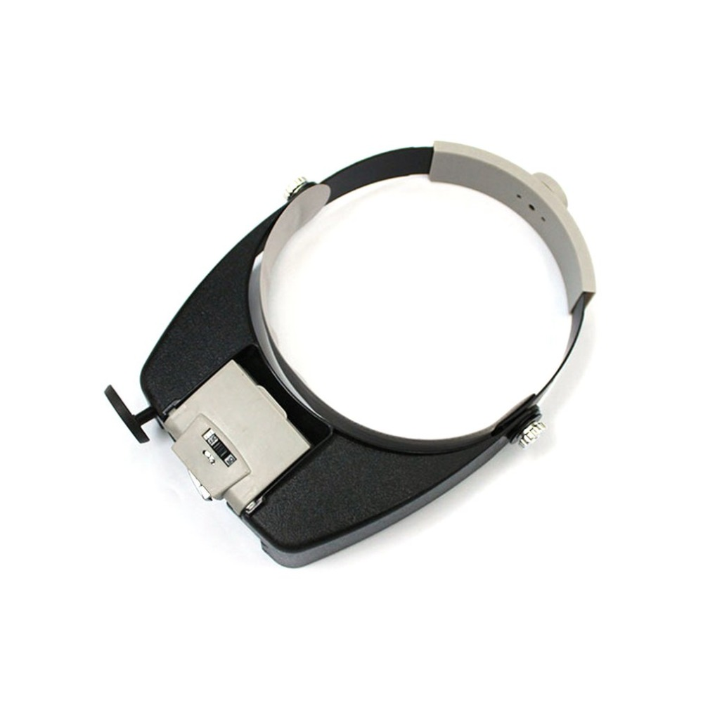 HOT LED Lamp Light Headband Jewelry Magnifying Glass Headband LED Light Magnifying Glass Lens Visor Toiletry Kits New Selling