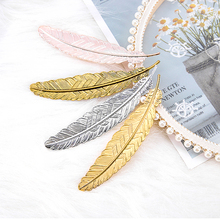 Bookmark Creative Stationery School-Supplies Metal Feather Retro Chinese-Style Student