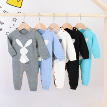 Infant Baby Rompers Winter Warm Newborn Long Sleeve Jumpsuit