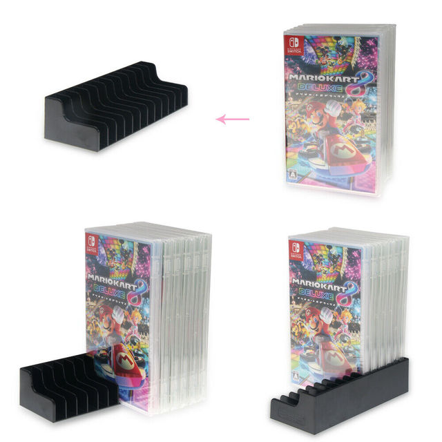 2 pièces/lot jeu carte boîte Support de rangement CD Support de disque pour Nintendo nintention Switch NS pour 24 pièces CD disques ou porte-cartes