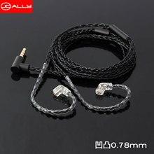 Shure – câble pour écouteurs Mmcx A2DC 0.78m KZ/TRN/QDC/ZSN/UE/CCA ZS10 PRO 8N avec micro, câble en cuivre sans oxygène pour blon 03, nouveau