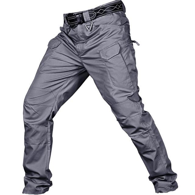 Men's Tactical Pants Multi Pocket Elastic Military Trousers Male Casual Autumn Spring Cargo Pants For Men Slim Fit 5XL 5