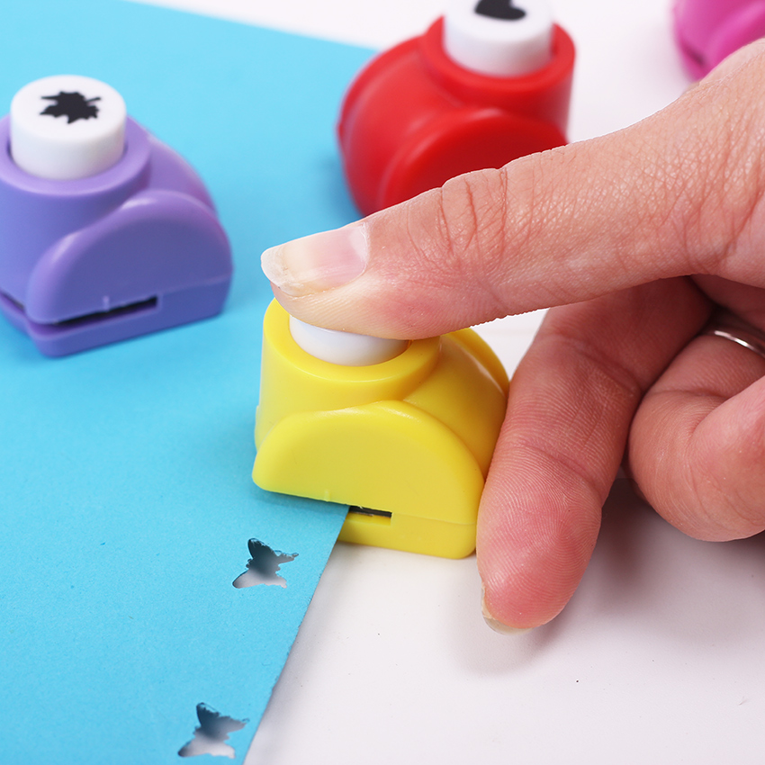 Kid Child Mini Printing Paper Hand Puncher Scrapbook Tags Cards Craft DIY Punch Cutter Tool 6 Styles Hole Punch 1PC